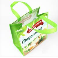 promotional Laminated Eco Fabric Tote Recyclable PP non woven tote bag,shopping bag,foldable bag