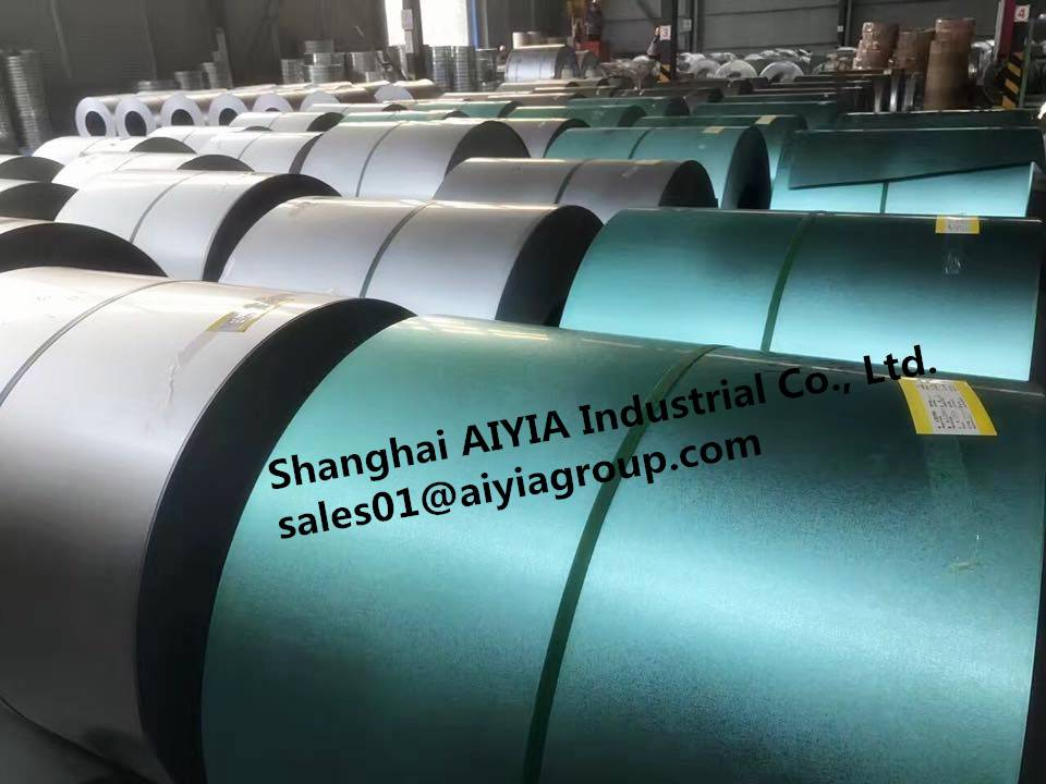 Green color Hot Dipped 55% Al-Zn Coated Galvalume Steel Coil