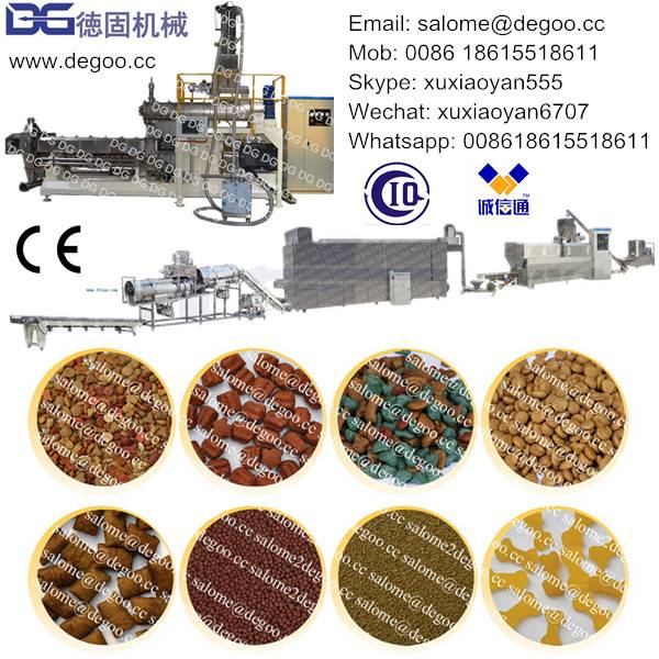 Automatic Pet/Dog/Cat/Fish/Pig/Animal Feed Pellet Extruder Machine Production Line