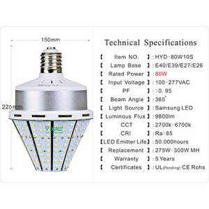 80W LED Park Light