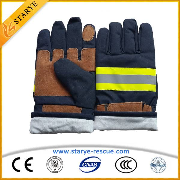 CE, EN Standard Fire Fighting Gloves / Fire Resistant Gloves / Fire Gloves