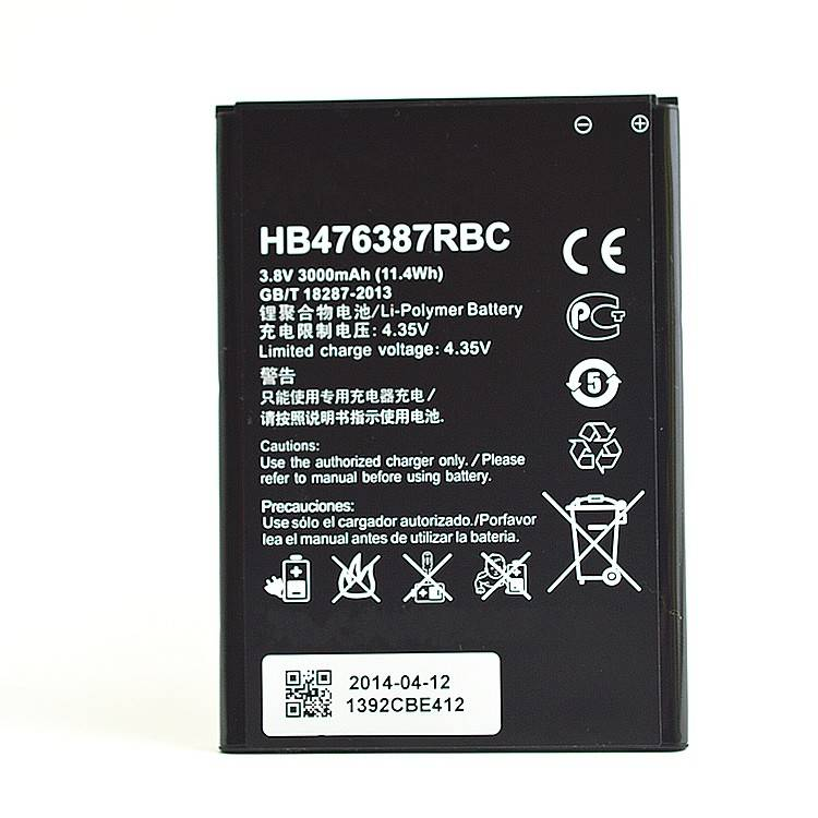 3000mah mobile phone battery for HB476387RBC HUAWEI