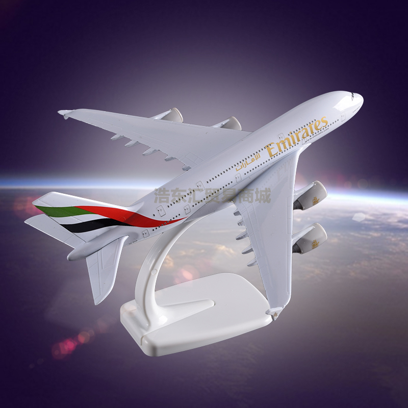 Metal crafts Display Plane Model Airbus 380 Emirates Airlines Simulation