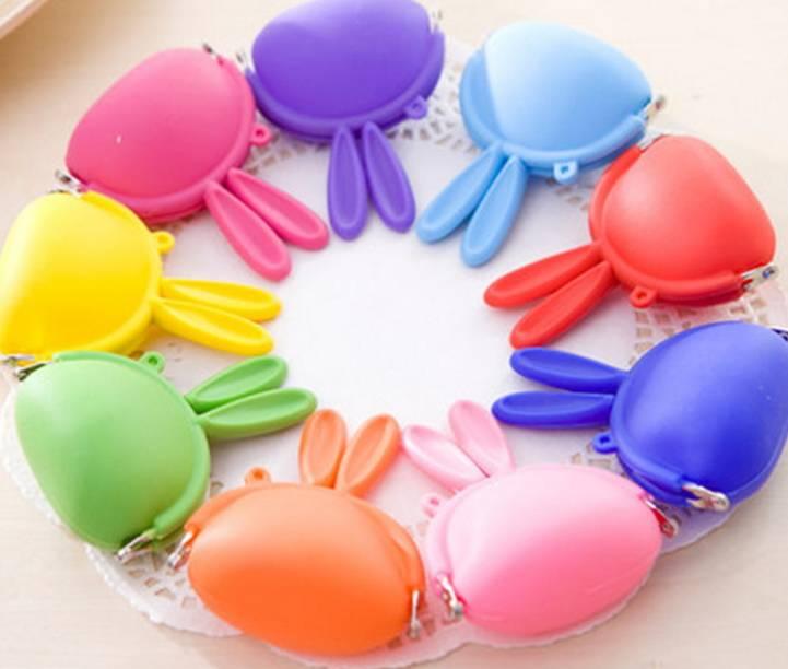 fashion design food grade silicone bag coin purse
