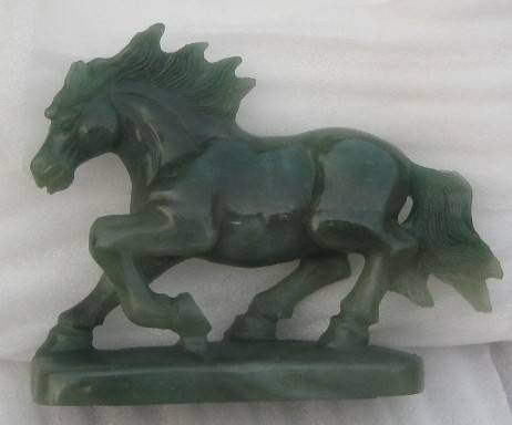gemstone horse sculpture carvings