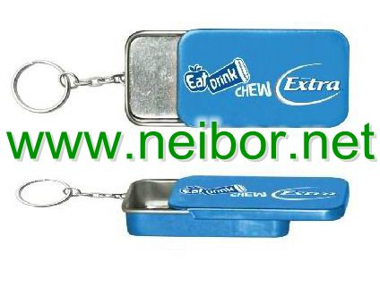mint tin box,chewing gum tin box,candy tin box,sliding tin box with keyring