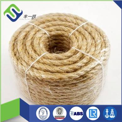 3 strand jute/sisal/manila rope with high strength