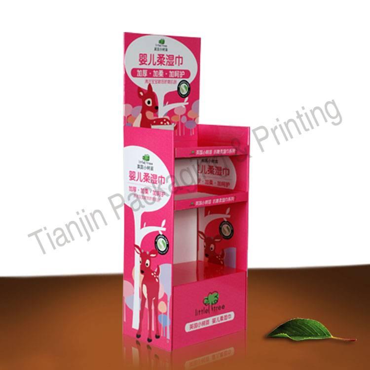 POP snack cardboard display, floor paper display