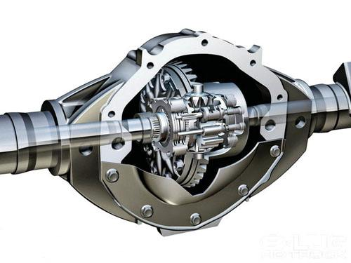 Heavy truck crown gear and pinnion