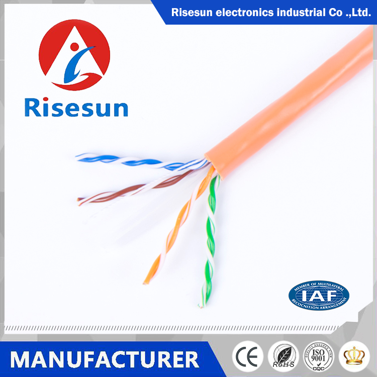 Guangzhou Risesun factory supply high quality low price utp cat6 cable for network system ethernet