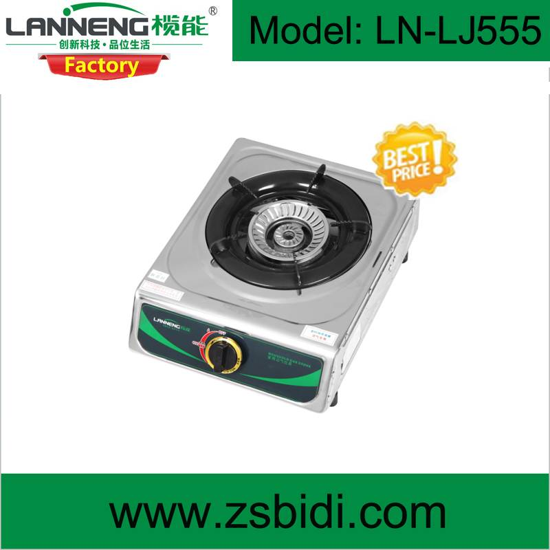 Table type stainless steel single burner gas stove