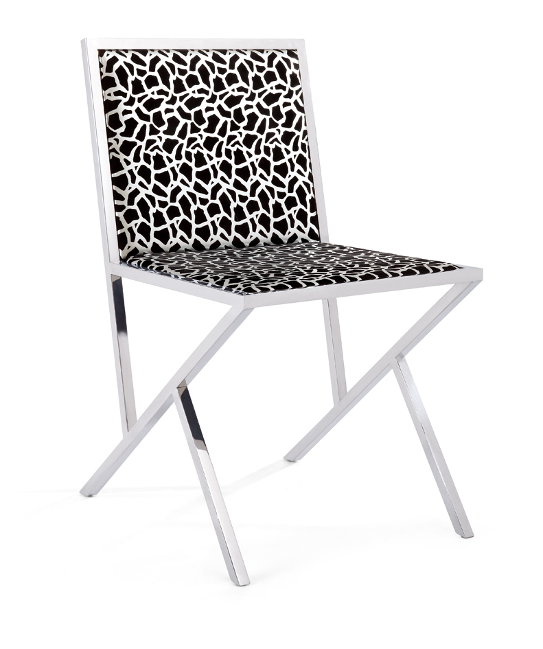 SHIMING FURNITURE MS-3210 stainless steel foot dinning chair
