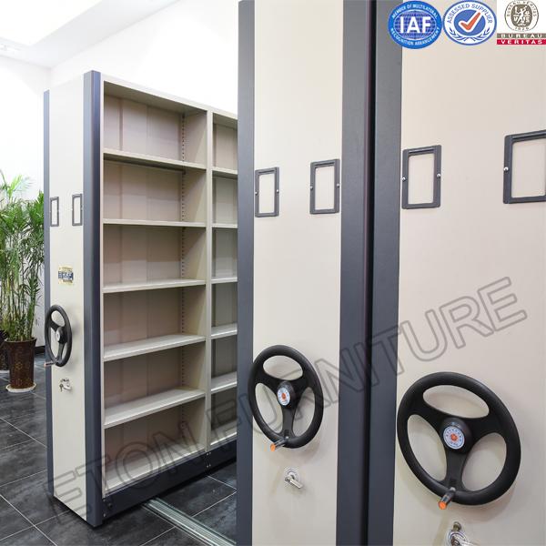 Spacesavig School Library Furniture Metal Movable Shelving