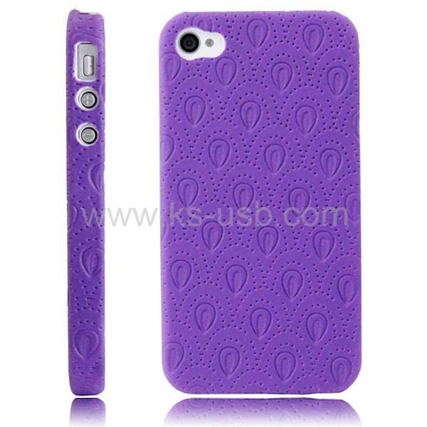 New Letter BEE Design Leather Coat Hard Case Cover for iPhone 4 & 4S