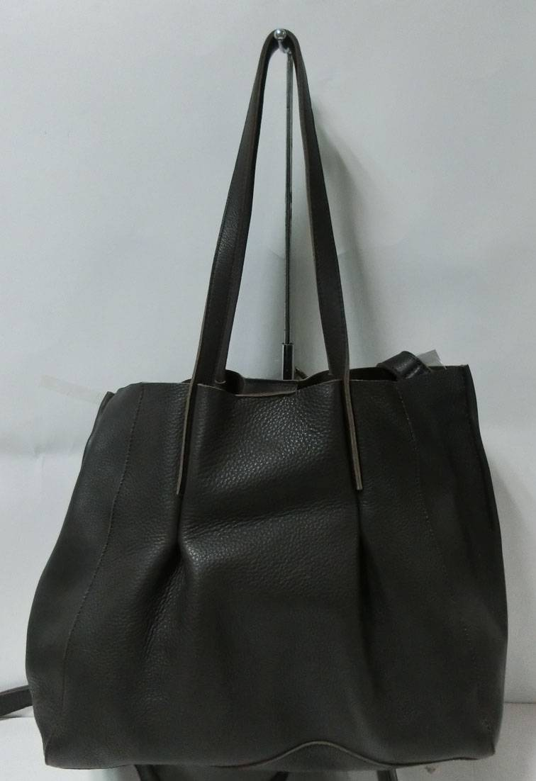 Fashion black large capacity genuine leather handbag