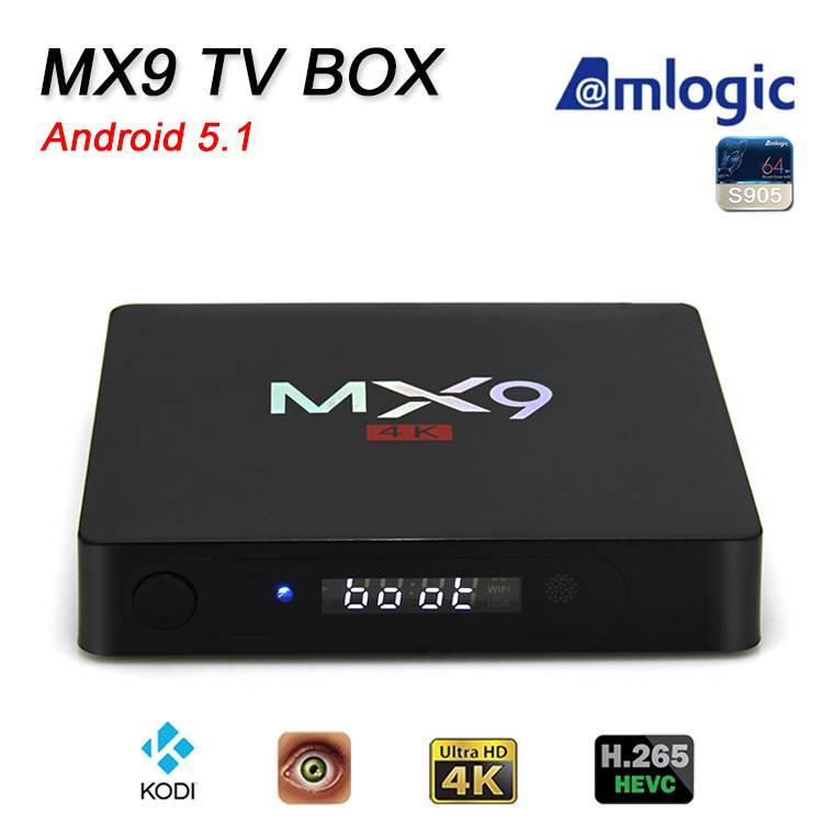 MX9 smart tv box google android 5.1 tv box Amlogic S905
