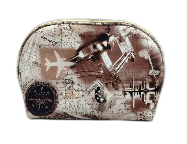 Modern fashion london style shell shape cosmetic bag for ladies