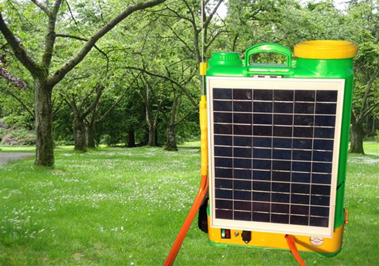 Solar powered Knapsack sprayer