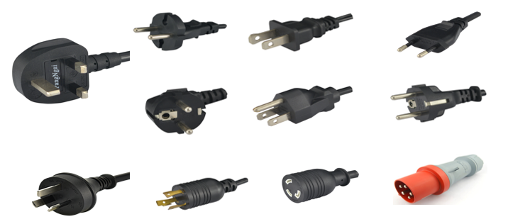 US/EU Standard AC Power Supply Cord for PC/Laptop/Computer