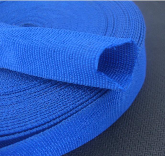 Customized tubular polyester webbing