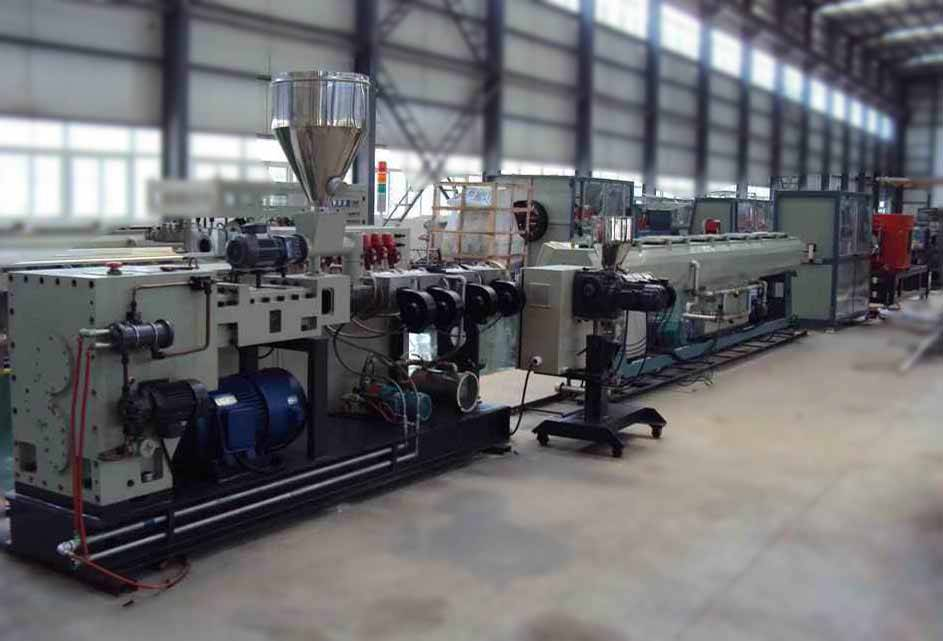 PVC three pipe production line