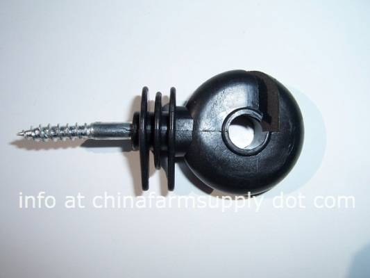 Electric fence screw in ring insulator