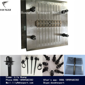 automotive auto car nylon zip cable tie moulds