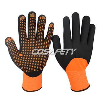 Foam nitrile 3/4 coated gloves