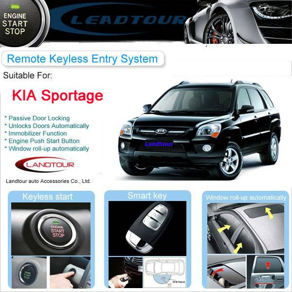 RFID Car Immobilize Remote Keyless Start Car security alarm system Button Start Engine KIA Sportage
