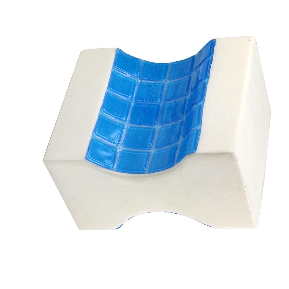 Cooling gel memory foam Knee wedge Pillow Leg Support Rest pillow