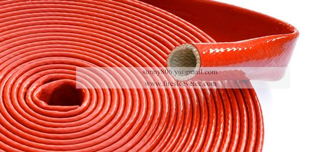 Fiberglass insulating sleeving coated with silicone rubber