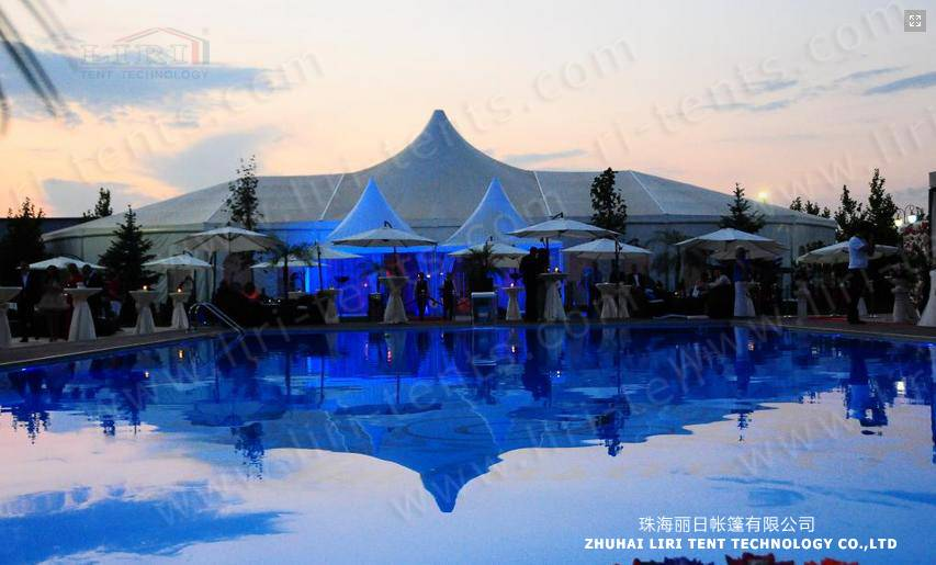 Outdoor Luxury High Peak Tent for Weddinds