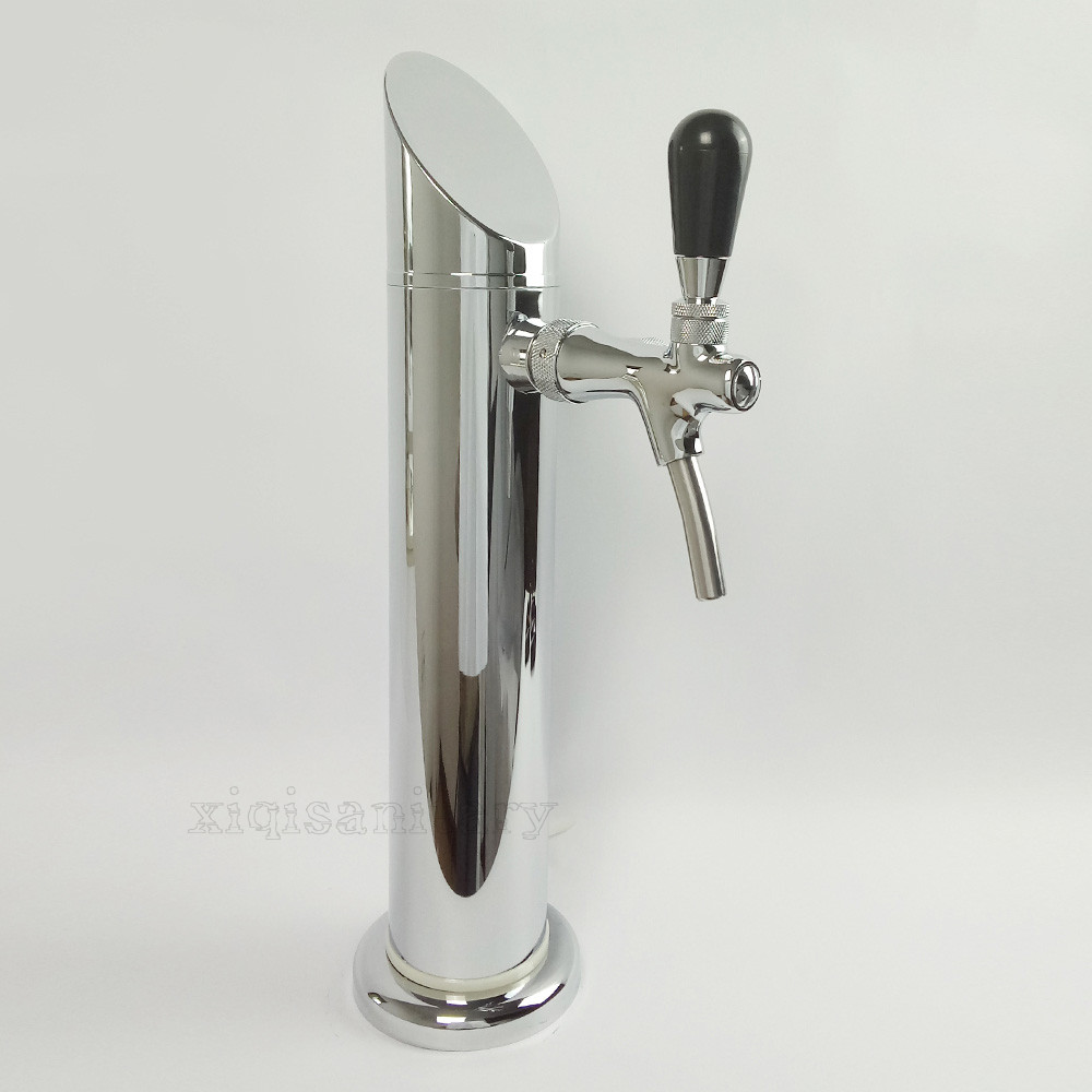single faucet stainless steel chrome plated sharp beer tower