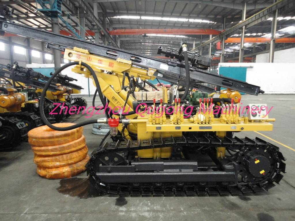 KY100 small DTH drilling rig, blasthole drilling rigs