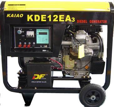 10KVA  Open Diesel Generator air cooled KDE12E3