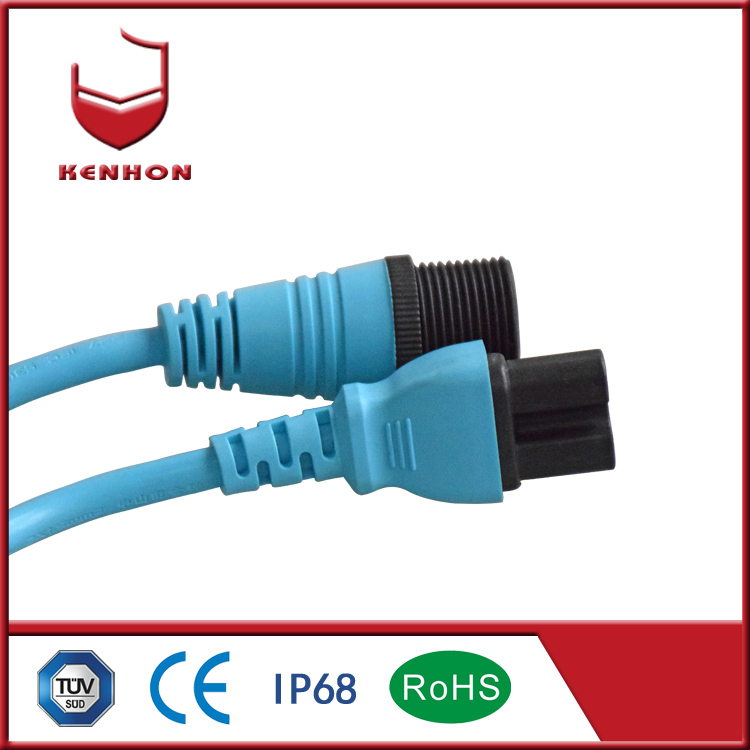 M27 IP68 12v outdoor waterproof cable connector