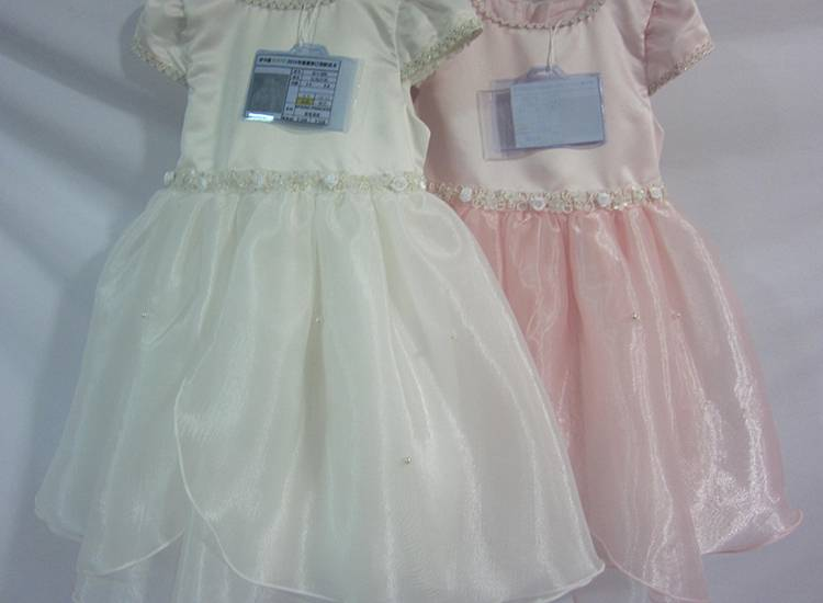 Flower Girl Western Party Wear Fancy Bubble Style Girl Kids Party Dresses for A Wedding
