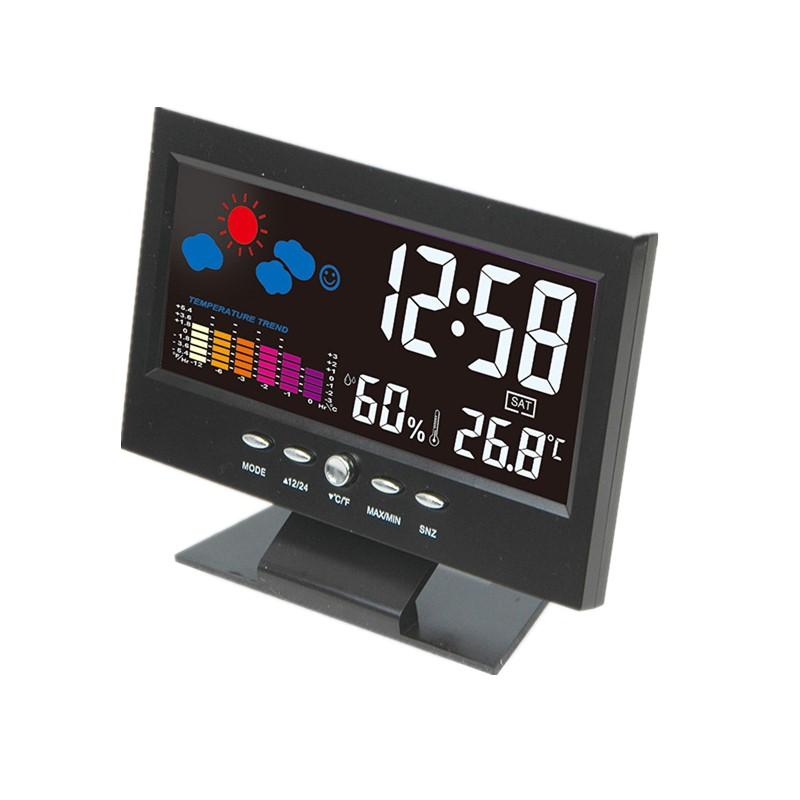 Weather Forecast Color Screen Clock Temperature Trend Humidity Alarm Clock