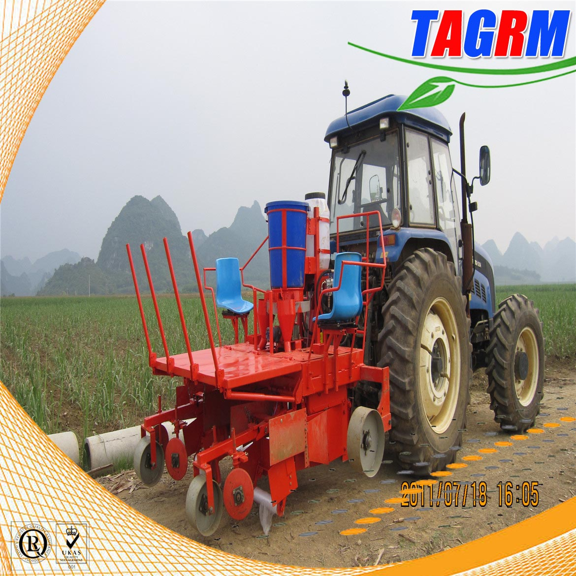 TAGRM newest 2CZ-2 sugarcane planting machine,sugarcane seed planter