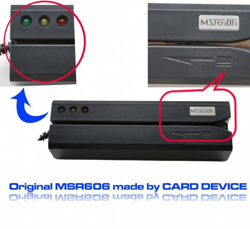 Original MSR606 Magnetic card Reader/Writer Msr206 Encoder Credit Card reader