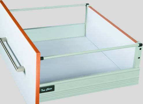 Kitchen drawer system with soft closing