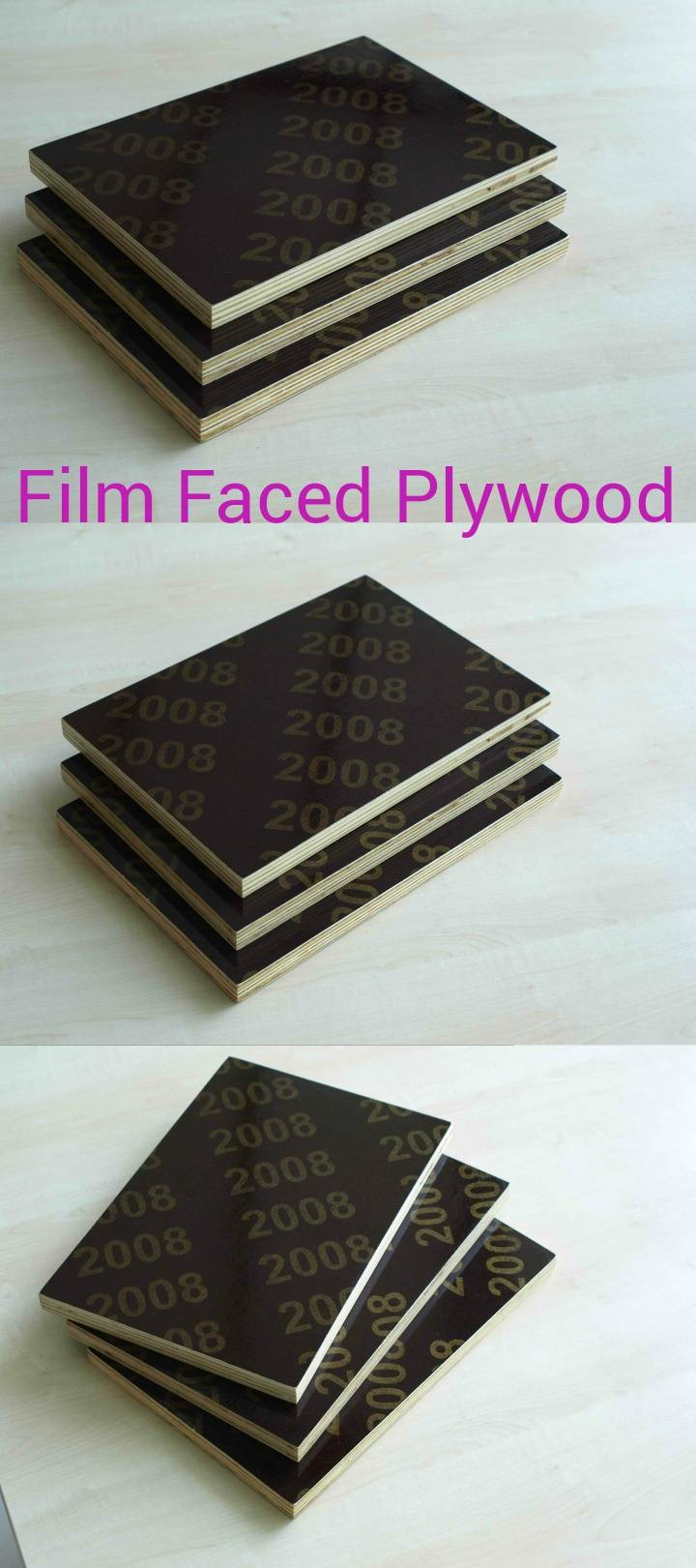 18mm film faced plywood with melamine glue for construction use