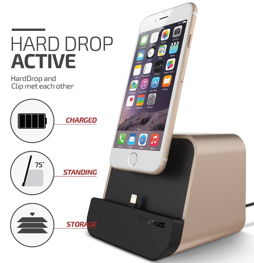 VERUS i-depot - Mobile phone & tablet charger stand, desk cradle - Universal (Apple & Android)