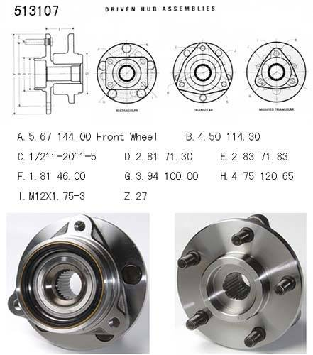 AMC-Jeep Truck Axle bearing& hub assembly 513107/53000228