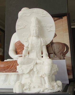 marble carved buddha