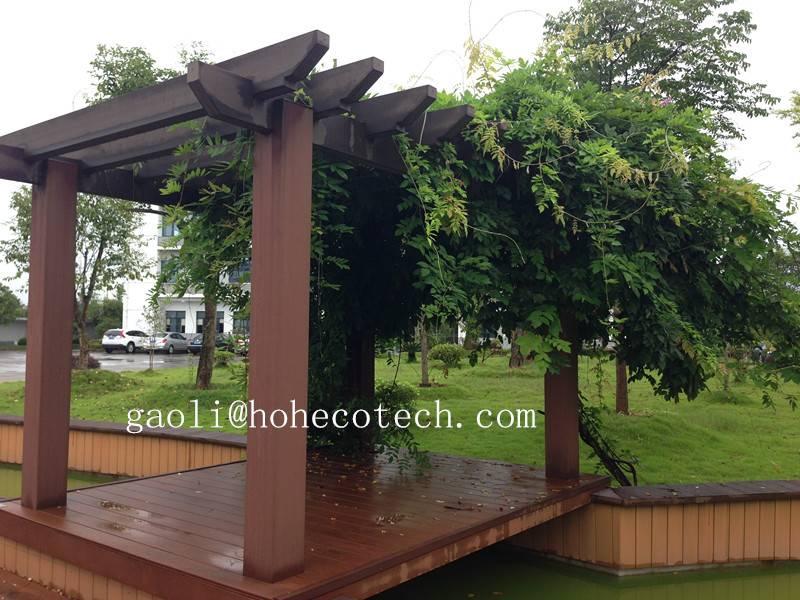 anti peeling wood crack-resistant wpc pavilion termite free composite pergolas