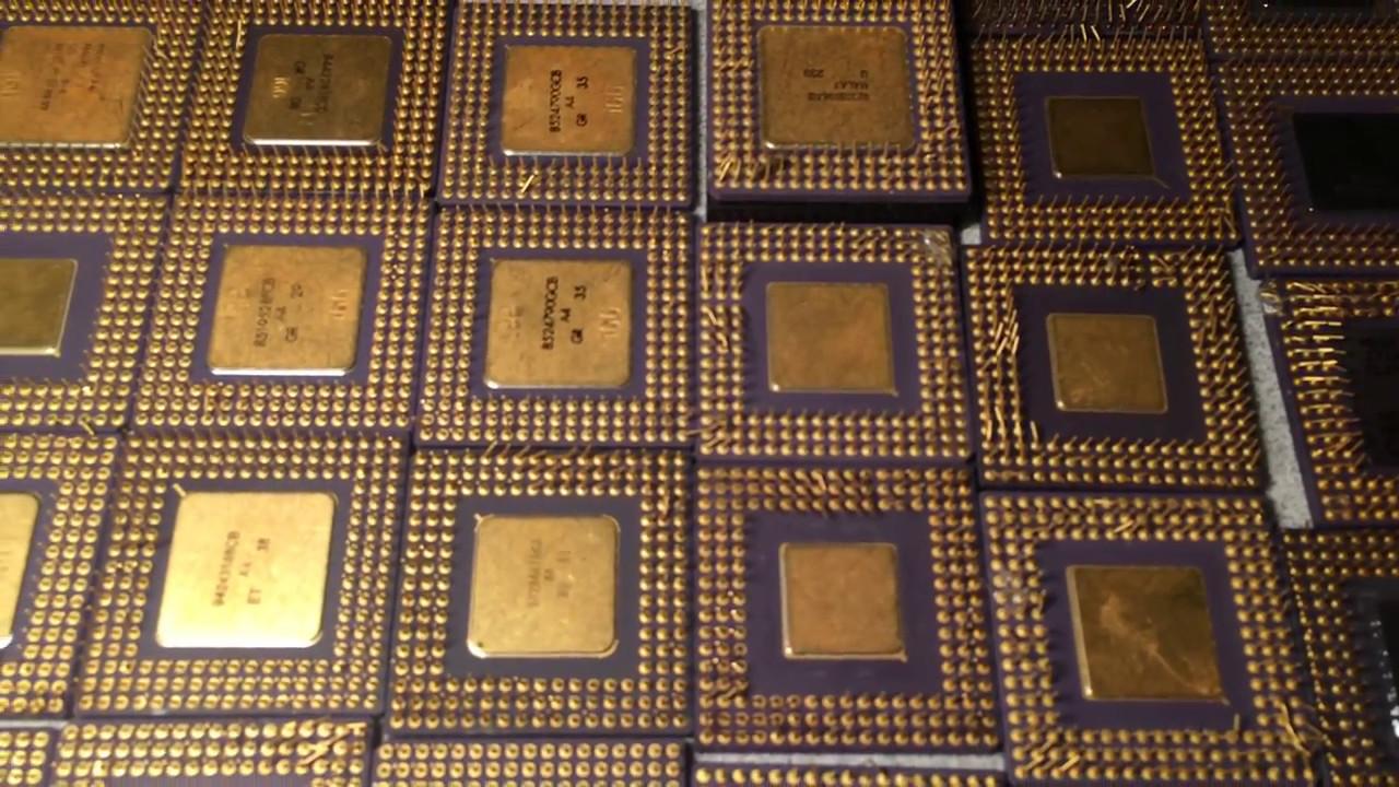 Intel 486 & 386 Cpu/Computer Motherboard Scrap/Ceramic CPU scrap