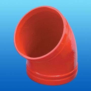 FM/UL pipe fitting--ductile iron grooved elbow