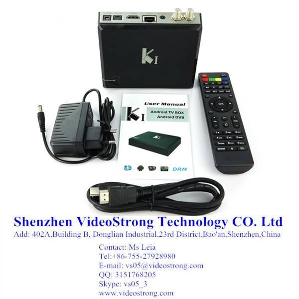 KI Amlogic S805 Quad core OTT DVB S2+T2 Hybrid TV box
