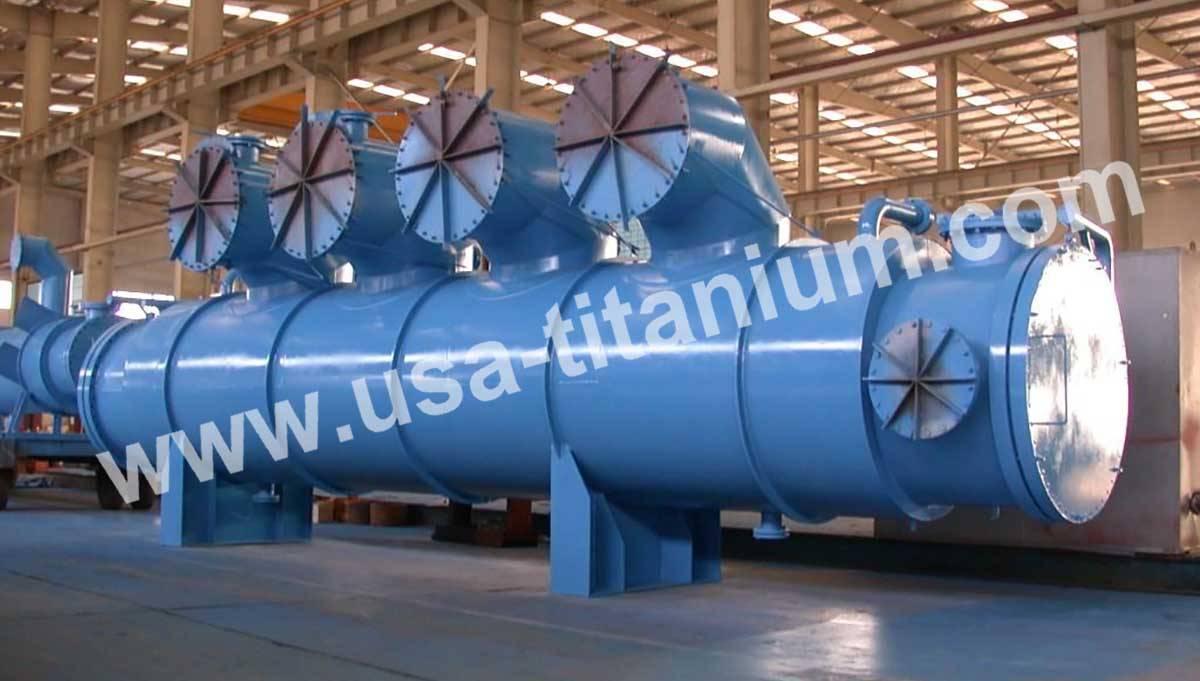 USTi Titanium Head Equipment Heat Exchanger  Condenser Vessel